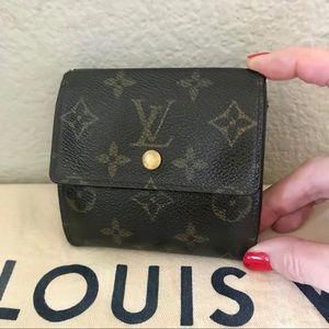 Louis Vuitton Brown Monogram Compact Wallet Auth
